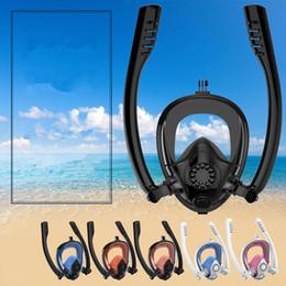 Masque de plongée unisexe sous-marin anti-brouillard masque facial complet avec masque et tuba avec pliable tuba équipement de natation de plongée MMA1843 ? partir de fabricateur