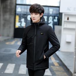 8fa19b57405 Зима новый мужской вниз парки мода роскошь пуховик мужчины с капюшоном  дизайнер пальто повседневная мужская верхняя одежда Азиатский размер