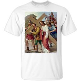 Télévision numérique blanche en Ligne-Jesus Christ V35 --- Blanc T Shirt Toutes les tailles S-5Xl T Shirt Hommes Digital Impression Directe Blanc à manches courtes Personnalisé Plus Size Show de TV