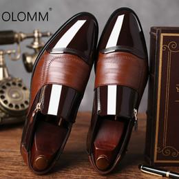 2019 grandi scarpe da uomo 2019 nuove scarpe eleganti da lavoro di grandi dimensioni scarpe da uomo a punta scarpe casual da uomo zapatos de hombre vestito formale grandi scarpe da uomo economici