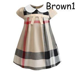 vestido de cumpleaños de diseñador para niñas Rebajas Vestidos de diseñador para niña 2019 Verano Nuevo estilo británico de lujo Vestidos Estilo universitario Vestido de una línea linda Fiesta de cumpleaños Princesa Ropa