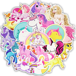 sticker designs for cars Promo Codes - Unicorn Stickers Poster Wall Sticker for Rooms Home Laptop Skateboard Luggage Car Kids DIY Cartoon Sticker 30PCS Set GGA1624