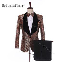 Bridalaffair Men Suit Groom Wear 2019 Nouveaux Groomsmen Casual Mode Blazer Slim Prom De smoking Costumes De Mariage Pour Hommes Le Marié (Veste + Pantalon) ? partir de fabricateur