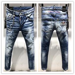 jeans di alta qualità Sconti 2019 nuovo marchio di jeans casual da uomo europei e americani alla moda d2, lavaggio di alta qualità, macinazione a mano pura, ottimizzazione della qualità L9619