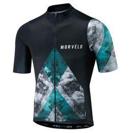 Недорого china джерси s онлайн-2019 Новый morvelo велоспорт Джерси мужчины с коротким рукавом велосипед велоспорт одежда горный велосипед рубашка bicicleta Майо дешевые-одежда-Китай 112909Y