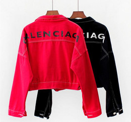 Casacos jeans mulheres on-line-Mulheres Designer Impresso Jaquetas Harajuku Mulheres zipper casaco cardigan jaquetas De Beisebol das mulheres Calça Jeans Feminina Casual