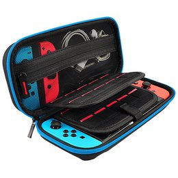 Trage taschen griffe online-Für Nintendo Switch Reise Tragen Tragbare EVA Tasche Lagerung Hard Case Schutzhülle Tasche Shell für Switch Konsole Griff Neueste Fälle