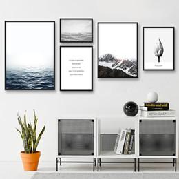 2019 peintures militaires Sea Sky Nordic Style de mur Affiches Paysage Impressions Wall Art Toile Peinture décorative Montagne Photos For Living Room Decor