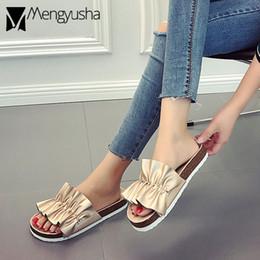 2019 scarpe di pantofole d'argento oro / argento fatti a mano fiore pantofole in sughero donne estate moda volant sandali in sughero donna scarpe di marca estate infradito mujer sconti scarpe di pantofole d'argento
