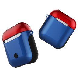 Caso de carregamento sem fio para apple airpods anti-knock silicone capa protetora brilhante para airpod air pods com carregamento com fio de Fornecedores de estojos de arame