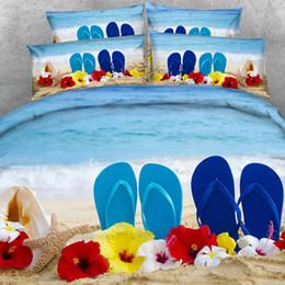 2019 tierdruck stoff zum verkauf 3-teiliges Bettwäscheset mit Kissenbezug Coastal Tagesdecke Tagesdecke Seashells Ocean Wave Bettdecke Seascape Ocean Bedding Beach Duvet