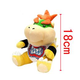 супер марио мягкие игрушки Скидка Новый Super Mario Bowser Koopa JR мягкие плюшевые куклы мягкие детские игрушки 18 см вышивка Купа Рождественский подарок для детей