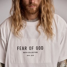 t shirts god Coupons - 19ss Fear Of God 6th Collection TEE Mens Shorts Womens Shirts High Street Hip Hop Fashion Oversized Designer T Shirt HFSSTX173