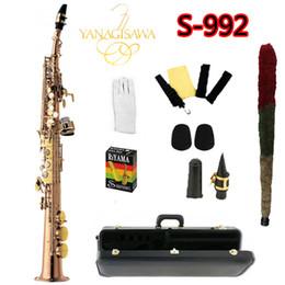 Strumenti di soprano online-Nuovo arrivo S-992 YANAGISAWA sassofono soprano B laccato oro strumenti musicali sassofono suonare YANAGISAWA professionale