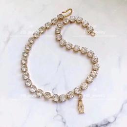 scatole per popcorn Sconti Popolare marchio di moda Alta versione C Diamanti choker per la signora Design Women Party Wedding Lovers regalo gioielli di lusso per la sposa con BOX