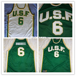 121fdbe35fe Cheap University of San Francisco # 6 Bill Russell Jersey any Custom name,  number and sizes, rev 30 Basketball Jersey Stitched