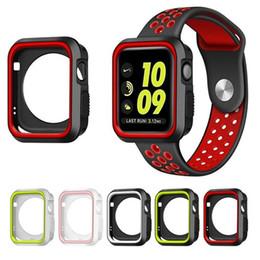 Argentina Tapa del reloj de silicona para Apple Watch 42mm 38mm Banda de la correa Caso del marco de protección completo para iWatch 1 2 3 Serie Cubierta de la caja Suministro