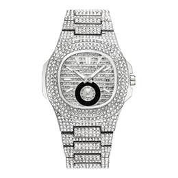2019 relojes de damas hermosas Hermoso reloj de lujo de lujo para mujer con diseño especial de diamantes reloj de vestir para mujer reloj de cuarzo oro rosa rebajas relojes de damas hermosas