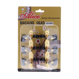 Clavijas de afinación clásicas online-NAOMI Alice AOS-020B3P Gold-Plated 3 Machine Head Classical Guitar String Tuning Pegs Guitar Accessories