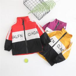 jaqueta de esporte para meninas Desconto Crianças Outwear Meninos Bebê Casaco De Beisebol Casaco para Crianças Esporte Tops Roupas Outono Manga Comprida Meninas Casacos Outwear