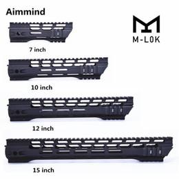 Barandilla m4 online-AR-15 M4 M-LOK guardamanos 7 10 12 15 pulgadas Slim Free Float Handguard Picatinny Rail Mount Bracket