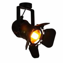 Edison lâmpadas de parede de bulbo on-line-Vintage teatro Edison lâmpada holofotes teto Industrial Light retro do restaurante lâmpadas do ponto preto da loja de roupa Bar lâmpada de parede 110-240V