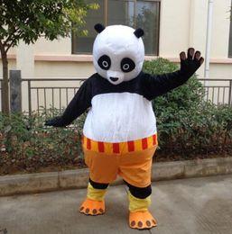 Kung fu tier cartoons online-Halloween Kung Fu Panda Bär Maskottchen Kostüm Top Qualität Cartoon Tier Anime Thema Charakter Weihnachten Karneval Party Fancy Costumes