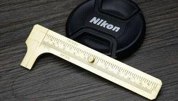 латунный калибр Скидка Бесплатная доставка High Qualtiy Brass штангенциркуля Измерение инструмента измерения, карманный 100мм Mini латунь Скользящий Gauge штангенциркуль