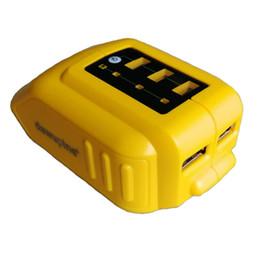 batería hitachi Rebajas DCB090 Cargador convertidor USB para 14.4V 18V 20V Convertidor de batería de iones de litio DCB090 Adaptador de carga de dispositivo USB Fuente de alimentación