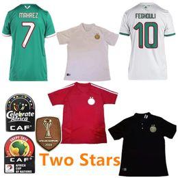 Zug-patches online-Afrika Cup Champion-Patch 2019 Algerien # 7 Mahrez Fußball-Trikot 19/20 Brahimi BELAILI POLO Fußball-Hemd ATAL Red Trainings Fußball-Uniform