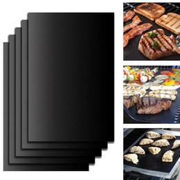 einweg-kuchen dosen Rabatt Wiederverwendbare Grill Ofen Tragbarer Non-stick macht Grill leicht 33 * 40CM 0.2MM Schwarz Backofen Herd XD22188