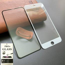 2019 pantalla de carbono iphone La fibra de carbono completa Pegamento de borde suave 3D curvos templado protector de pantalla de cristal para iPhone 11 MAX Pro 7 8 Plus X XR XS