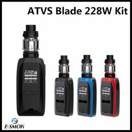 Canada Kit de démarreur d'origine lame 228W pour VTT 18650 batterie Kit de mod E-ecig Vape VW TC Box Mod Pour 5 ml réservoir atomiseur SR-11 100% authentique Offre