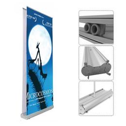 Рулонная печать баннера онлайн-Новые двойные подтягивания баннеры Roll-Ups баннеры выдвижные баннеры с двойной 100x200cm баннер печать сумка для переноски упаковка