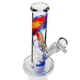 2020 tubos de vidro menina Tubos de água de tubo reto cachimbos de água inebriantes Dab Rigs bonitos para menina com downstem e tigela Bongos para erva seca Clear Pyrex Glass Bong tubos de vidro menina barato