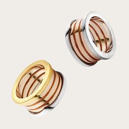 anelli di gioielli imitazione Sconti Bestries all'ingrosso di lusso Bugali B.ZERO1 titanio acciaio amanti banda anelli taglia per donne e uomini gioielli di trasporto libero con logo originale