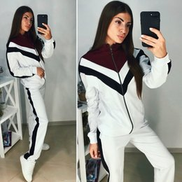 871d419d8c0 very hot Wholesale Brand Designer Women Jacket 2 Piece Set Outfits Coat  Leggings Tracksuit Shirt Pants Jogging Suit Sportswear Sweatsuit