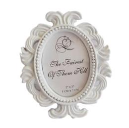 2019 venda de quadros Venda quente Floral Photo Frame Rodada Quadro Picture Frame Titular Casamento Home Decor desconto venda de quadros