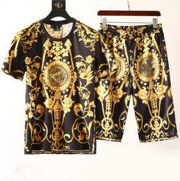 kurzarm trainingsanzug für männer Rabatt Mode Für Männer Kleidung Sets Kurzarm Druck Trainingsanzüge 2 STÜCKE Mens Casual Sommer Tragen Designer Kleidung Set