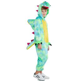 Krokodil kostüme online-Halloween Cosplay Party Boy Kostüme Tierkinder Crocodile Foto Kleidung mit Flügeln und Schwanz Lustige Kostüm-Kleidung