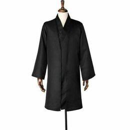 Costume feito uniforme on-line-Hot Lord Voldemort Preto Suit Uniforme Traje Cosplay Custom Made