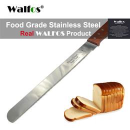pastelarias grossistas Desconto WALFOS bolo faca faca de pão torradas Cortando facas bolo Slicer Baking Pastry cortador de lâmina serrilhada Easy Cut