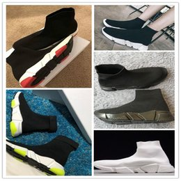 Balenciaga Sock shoes Luxury Brand sapatos treinador de velocidade Alta Raça Runnersmens mulheres sapatilhas Preto branco Slip-on triplo s Sapatos Casuais de