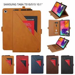 Colchetes altos on-line-De alta qualidade suporte duplo pu tablet estojo de couro para samsung galaxy tab um 10.1 (2019) / t510 / t515 / tab S5e T720 / T725 / Tab Um (2019) / P200 / P205