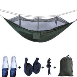 Двойной кемпинг гамаки открытый москитная сетка Гамак с гамаком дерево ремни,ультра легкий парашют ткань кемпинг воздушной палатки путешествия от