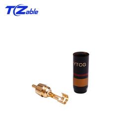 2019 amplificadores de febre Puro cobre banhado a ouro rca lotus plug cabo de sinal de áudio plug de áudio de alta fidelidade terminal conector para amplificador mixer de áudio amplificadores de febre barato