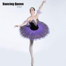 due costumi a due facce Sconti Bll0087 Elegante viola tutu balletto donne ragazze Balletto abiti per ballerina Pancake piatto tutus costumi professionali