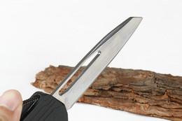 melhor faca para camping caminhadas Desconto Espelho de luz Única faca Reta tactical facas automáticas faca de bolso allumen lidar com Bainha de nylon