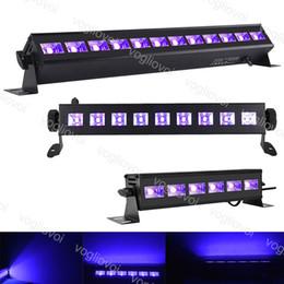 2019 schwarze lichtausrüstung DJ Equipment 9LED 12LED Disco UV Schwarzlicht DJ Lampe UV Party Weihnachts Bar Licht Laser Bühnenlicht UV Wall Washer Scheinwerfer DHL günstig schwarze lichtausrüstung