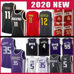 Dominique wilkins jersey on-line-Trae DeAndre Jovem Hunte Jersey Spud Webb Dominique Wilkins DeAaron Marvin Fox Bagley III Chris Jason Webber Williams Falcão Atlanta